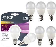 6Pack TCP 5W E14 LED Bulb Small Edison Screw SES Lights Warm White