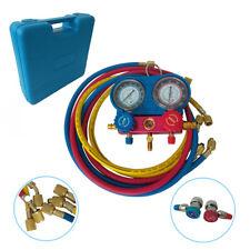 R134a Air Refrigeration Kit Tool Ac Manifold Gauge Set Brass 5ft Hvac Ac Case