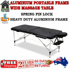 Portable 75cm Two Fold Massage Table with Carry Bag - Black