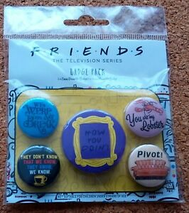 Friends Official Badge Set (5 x Pin Badges)  FREE POSTAGE