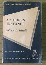 1957 A MODERN INSTANCE by WILLIAM D HOWELLS Paperback Book