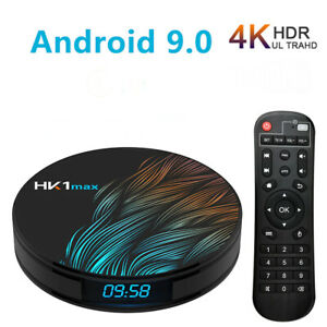 HK1 Max Smart Android TV Box Android 9.0 4K Quad Core HD Smart Media Player