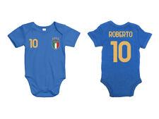 Body pagliaccetto per neonato nazionale italiana tifoso italia europero con nome