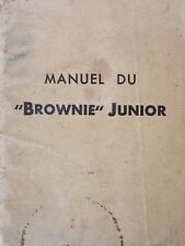 Instruction manual devices Kodak Brownies Junior (Fr)