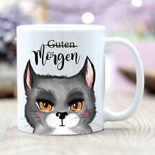 T206 Wandtattoo-Loft Tasse Tasse Café Chats Guten Morgen Chat Matin Moufle