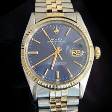 Rolex Datejust Hombre 2tone 14K Oro Acero Inoxidable Aniversario Banda