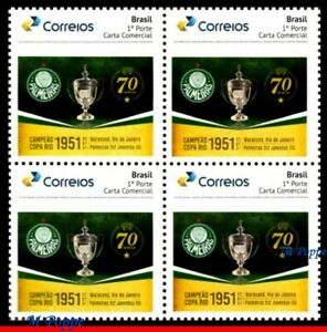 21-51 BRAZIL 2021 PALMEIRAS, WORLD CHAMPION IN 1951, SOCCER FOOTBALL, BLOCK MNH