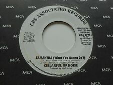 """MARK AVSEC CELLARFUL OF NOISE """"SAMANTHA (WHAT YOU GONNA DO)"""" 7"""" WHITE LABEL PROM"""