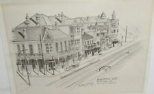 "NOEL JEEFREY ""BASIN ST DOWN THE LINE"" NEW ORLEANS VINTAGE LITHOGRAPH 1960"
