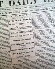 "Original & Rare Civil War Era 1861 DAVENPORT IA ""Iowa's Front Porch"" Midwestern"