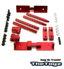 1/10 Drift, On Road RC Car Aluminum Stealth Body Mount No Clips TOYZ 234 Red