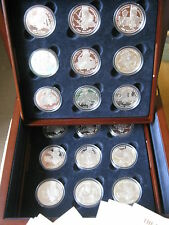 Croix de Victoria 2006 Channel Island Set Collection 18 sterling silver proof coins