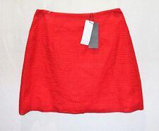 Ally Brand Red Stripe Crochet Lace A LINE Skirt Size 10 BNWT #SH20