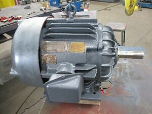 CENTURY 15HP 3PH 1750 RPM 220/440V 37/18.5A 284U TEFC  USED - RECONDITIONED