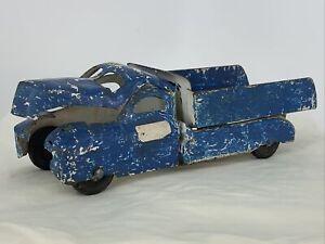 """Vintage Buddy L Pressed Steel Toy Dump Truck 13"""" Long Estate Find"""