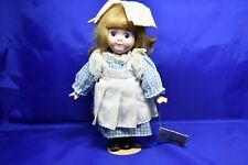 "Vintage Bradley Porcelain Bisque Doll ""Alison� With Stand 1988"
