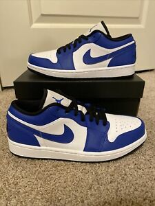 Nike Air Jordan 1 Low Game Royal 553558-124 Size 8.5 - NEW AND SHIPS FAST!