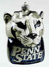 Slavic Treasures Glasscot Ornament Penn State Nittany Lions Figure Disk 3471604
