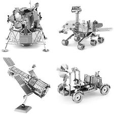 4 Metal Earth Hubble Telescope Apollo Lunar Rover Apollo Lunar Module Mars Rover
