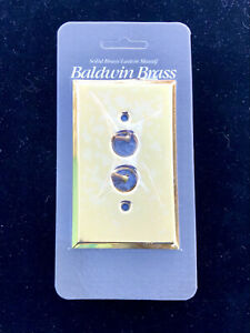 BALDWIN Brass Single Gang (1) Push Button Light Switch Plate Cover NEW/ SEALED!
