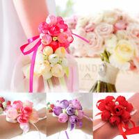 8cm Bride Wrist Flower Brooch Fabric Bridesmaid Hand Flower Wedding Supplies