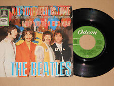 """THE BEATLES -All You Need Is Love / Baby You're A Rich Man- 7"""" Odeon (O 23 560)"""