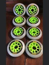 Inline skate wheels 90mm Atom Boom Magic green 83a (set of 8)