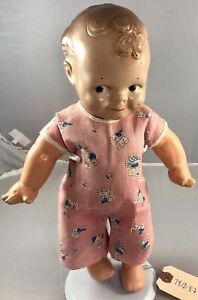 """12"""" Antique American Composition Scootles Doll! Beautiful! 18087"""