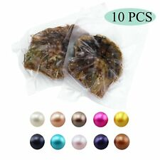 10PC Akoya Saltwater Pearl Oysters with Round Love Wish Pearl Inside Mother Gift