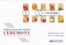 USPS First Day Ceremony Program #4754-63 Vintage Seed Packets Gardening Show