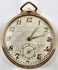 Antique 9 carat gold Art Deco Swiss dress pocket watch In Good Working Order