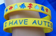 AUTISM Silicone Wristband ASD Emergency Bracelet Jewellery Alert MEDICAL ID BAND