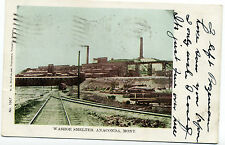 """MT Montana Anaconda: """"Washoe Smelter"""" Rare Private Post Card Posted 1906"""