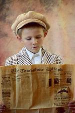 Child Boy Vintage Costume Hat Jacket Halloween Sz S 6-8 Newspaper Boy