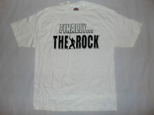 The Rock Short Sleeve Shirt White Pro Wrestling WWE Sz MEDIUM M NWOT BRAND NEW