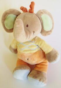 ♥ Nicotoy Elefant 25cm Kuscheltier C&A  orange beige gelb Hose Pullover ♥