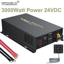 Wzrelb 24V to 120V Pure Sine Wave Inverter 3000W Solar Power Generat Wire Swith