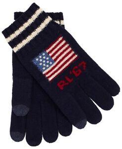 Polo Ralph Lauren Men's Flag Merino Wool Touch Screen Gloves