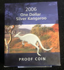 2006 $1 Australian Proof Silver Kangaroo Australian Mint w/ Coa Nh