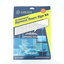 Lokaus Professional Business Hours Sign Kit Decals For Business Doorwindow