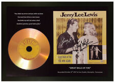 "JERRY LEE LEWIS ""GREAT BALLS OF FIRE"" SIGNED PHOTO GOLD CD DISC MEMORABILIA GIFT"