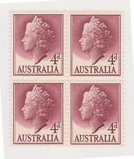 (OZ-34) 1953 AU 4d lake QEII 4block MUH