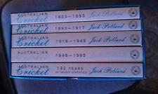 Jack Pollard - The Complete History of Australian Cricket 5 books 1803-1995