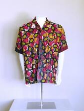 vtg 90s cabana ethnic hawaiian GORGEOUS abstract batik chillwave dashiki shirt M