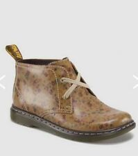 NEW WOMENS US 11 / UK 9 DR MARTENS JOYLYN LITTLE FLOWERS 2 EYE DESERT BOOTS TAN