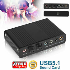 5.1Channel External Sound Card Digital Analog Recording Adapter Audio Controller