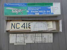 VINTAGE Sig Manufacturing Co. Fairchild-24 Balsa Airplane Model Kit
