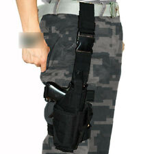 Adjustable Tactical Pistol Gun Revolver Holster Drop Leg Thigh Mag Pouch Holder