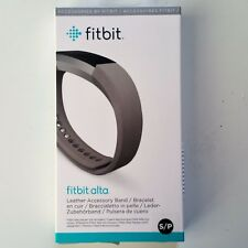 Fitbit Alta Leather Band Replacement Accessory Small Grey OEM New Sealed!