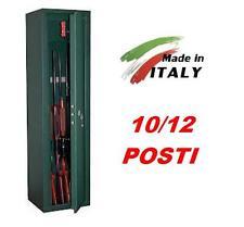 Armadietto contenitore blindato box portafucili 10/12 posti fucili caccia ITALY